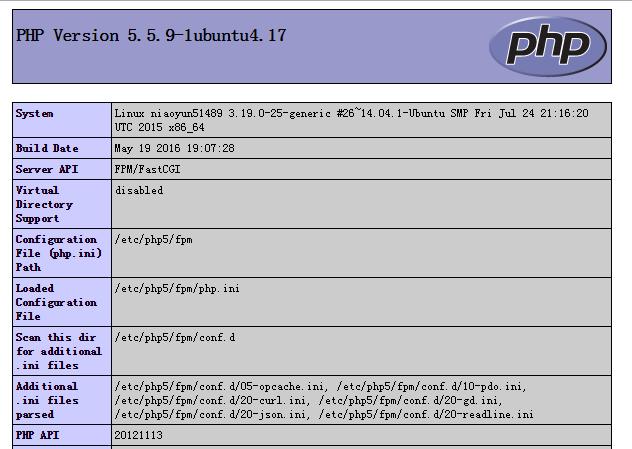 php配置成功